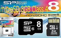 Карта памяти Silicon Power microSDHC 8GB Class 4, фото 1