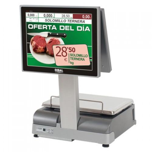 Торговые весы DIBAL CS-1100 W PC-Baced с двумя 15 дм TFT экранами