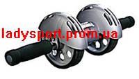 Тренажер колесо подвійної дії з килимком Power Stretch Roller, фото 1