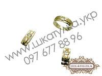 Серебряный гарнитур с золотом и фианитом №29о