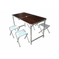 Набор мебели алюминиевый для пикника TO-8812 F Brown