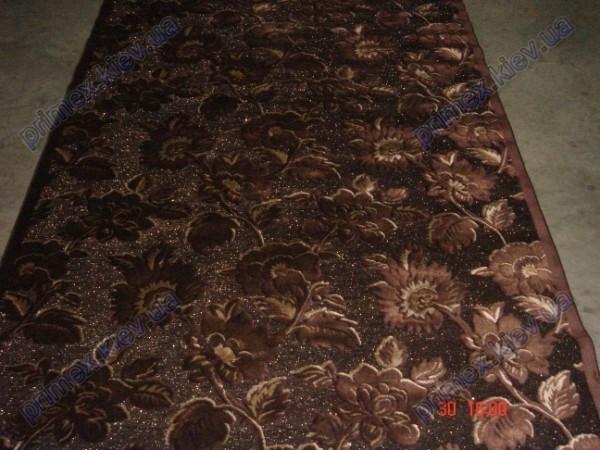"""Ковер из вискозы Даймонд """"Темные цветы"""", цвет - коричневый"""