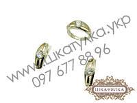 Серебряный гарнитур с золотом и цирконом № 33о