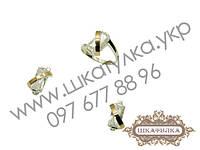 Серебряный гарнитур с золотом и фианитом №34о