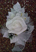 Свадебная бутоньерка № 21а (белая)