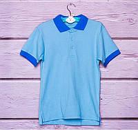 Поло для мальчика голубое р. 128,1 34, фото 1