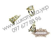 Серебряный гарнитур с золотом и фианитом №35о