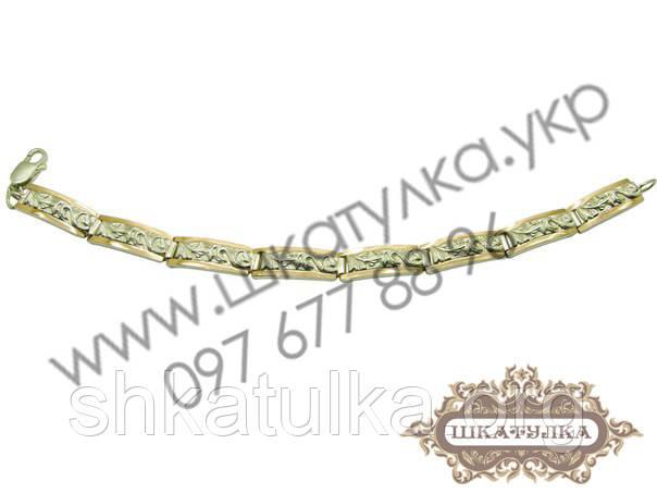 Серебряный браслет с золотом