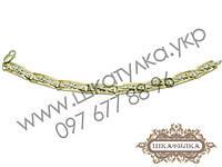 Серебряный браслет с золотом , фото 1