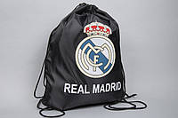 Сумка на шнурках (черная) ФК Реал Мадрид