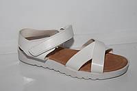 Кожаная летняя обувь. Босоножки на девочек от фирмы Солнце YT6085 White (31-36)