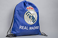 Сумка на шнурках (синяя) ФК Реал Мадрид , фото 1