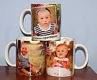 Печать на белых чашках с Вашим фото, фото 1