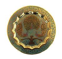 Тарелка настенная бронзовая Индия