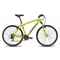 "Велосипед 27,5"" PRIDE 650 V рама - 21"" желто-синий матовый 2016"