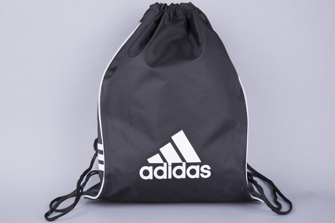 08688fd9 Сумка на шнурках Adidas черная плотная -