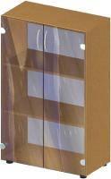 Стеллаж Бюджет со стеклянными дверями 700х347х1103 мм