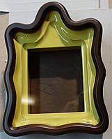 Киот для иконы фигурный, из ольхи, с деревянной рамкой, подготовленным под золочение.