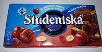 Шоколад ORION Studentska молочный с арахисом и вишней 180g