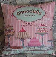 """Декоративная подушка """"Шоколадные кексы"""" (45х45)"""
