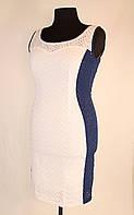Комбинированный летний сарафан 46-52 р ( голубой, синий, оранжевый, белый )