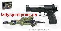 Игровой набор «Лазертаг» русс. озвуч. пистолет с лазер. прицелом + солдатик, фото 1