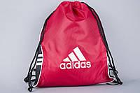 Сумка на шнурках Adidas красная плотная, фото 1