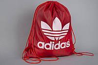 Сумка на шнурках Adidas красная v.2