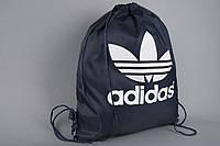 Сумка на шнурках Adidas темно-синяя v.2, фото 1