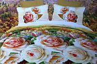 Полуторное постельное белье  Лилия HD с розами