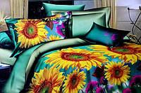 Полуторное постельное белье Лилия HD с подсолнухами