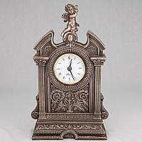 Каминные (настольные) часы Veronese Ангелочек с бронзовым покрытием 75316A1