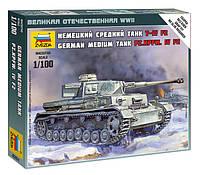 Сборная модель Zvezda (1:100) Немецкий танк T-4 F2