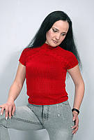 Женская вязаная футболка