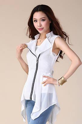 Белая шифоновая блузка Kiana Sheer УСС6089