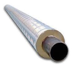 Теплоизолированные стальные трубы 108/200 мм в оцинкованной оболочке СПИРО, фото 1