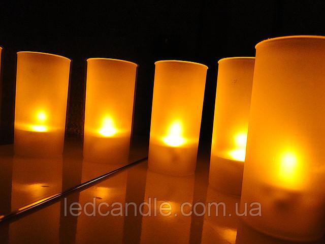 однотонные светодиодные свечи