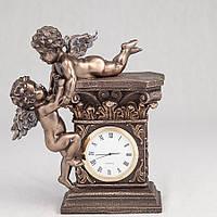 Каминные часы Veronese Играющие ангелочки с бронзовым покрытием 74349A4
