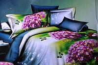 Полуторное постельное белье Лилия HD - сирень