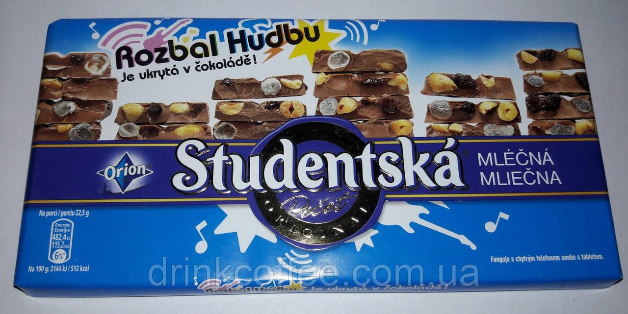 Шоколад ORION Studentska Rozbal Hudbu молочный с арахисом и желе, 180 г