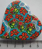 Магнит  керамика сердце высота 4,5 ширина 5,5 см. 3