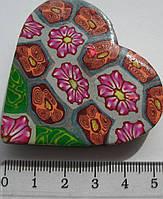 Магнит  керамика сердце высота 4,5 ширина 5,5 см. 4