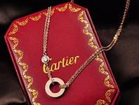 Кулон CARTIER ювелирнаая бижутерия золота 14К