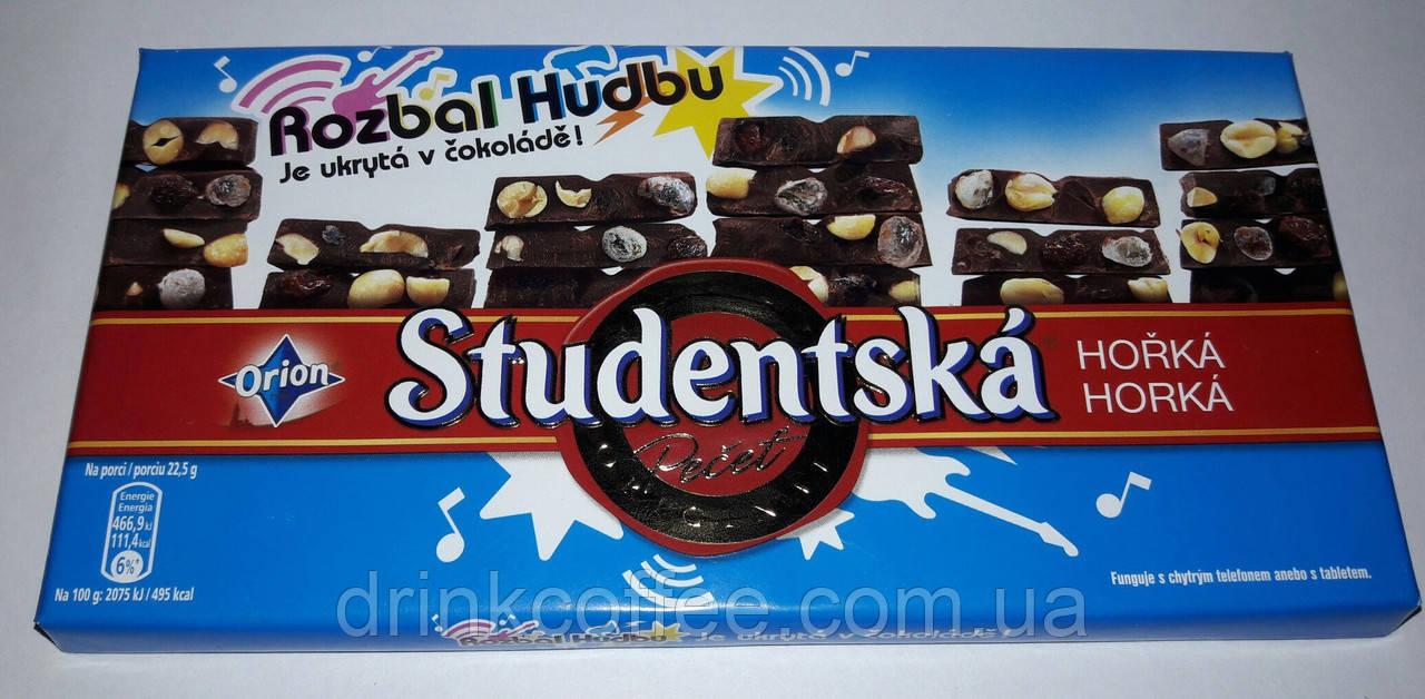 Шоколад ORION Studentska Rozbal Hudbu чёрный с арахисом и желе, 180 г