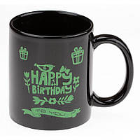 Светящаяся чашка с днем рождения.