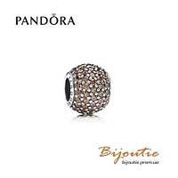 Pandora шарм Pave КОРИЧНЕВЫЙ ШАР ПАВЕ 791051BCZ серебро 925 Пандора оригинал