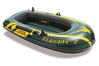 Трехкамерная надувная лодка из ПВХ под транец Intex 68346 SeaHawk-2, фото 1