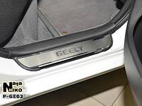 Накладки на пороги Premium Geely MK/GC6 4D 2008-