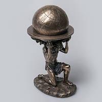 Подарочная статуэтка-шкатулка Veronese Атлант 76753A4, символ выносливости