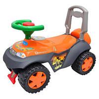 Детская машинка каталка-толокар Bambi  M 0533-1 музыкальная, оранжевая